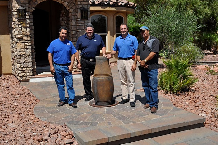 J or J Welder Team Stone Paver Entryway Landscaping