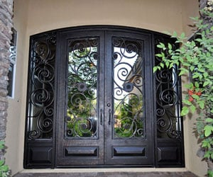 Iron Enret Door Wrought Iron Feature Entry Door